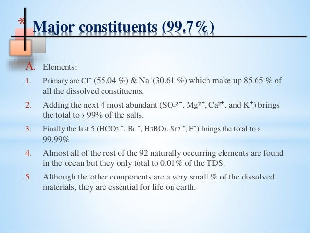 What Gases And Solids Are Naturally In The Water