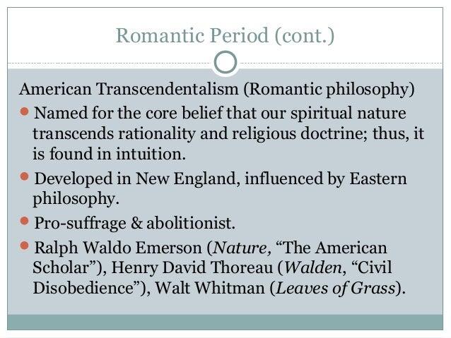 romanticism transcendentalism and henry david thoreau Romanticism and transcendentalism 1 early american attitudes toward nature and wilderness (a recap) 2 henry david thoreau (1817-1862)-protege of.