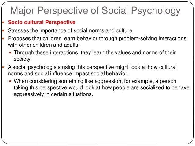 social psychology topics