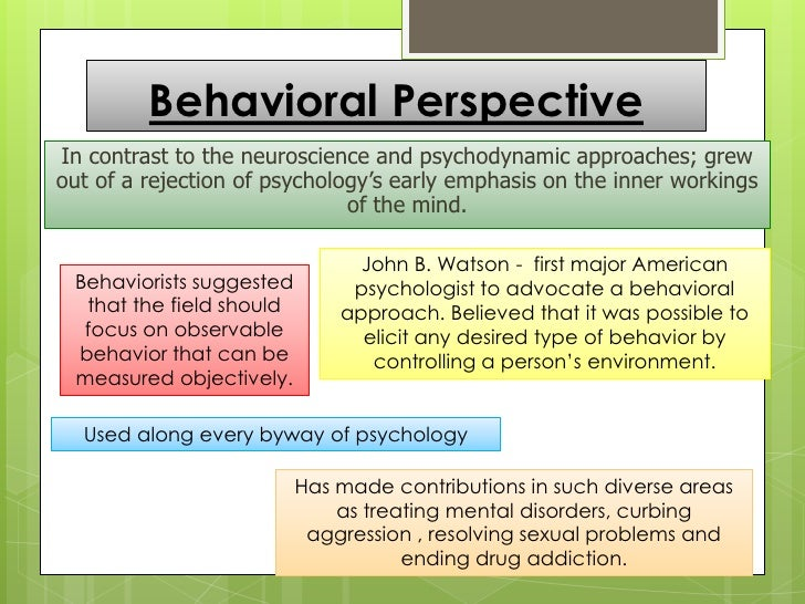 6 psychological perspectives