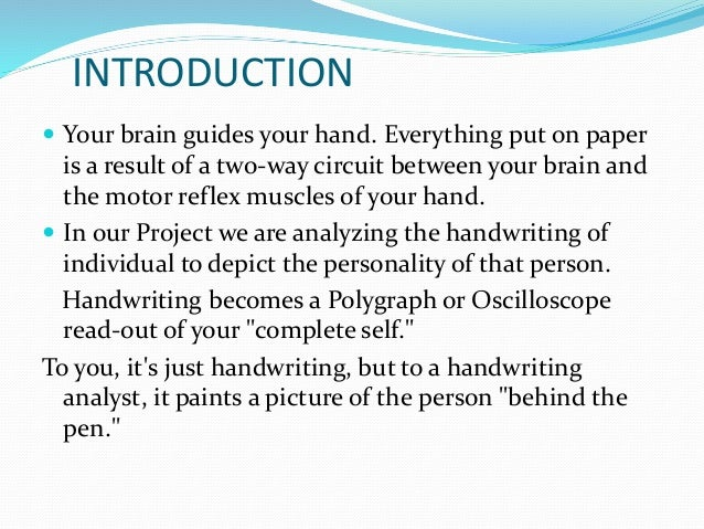 handwriting and personality ppt viewer