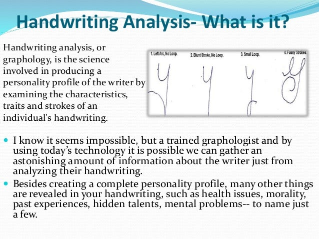 Handwriting and personality analysis tests