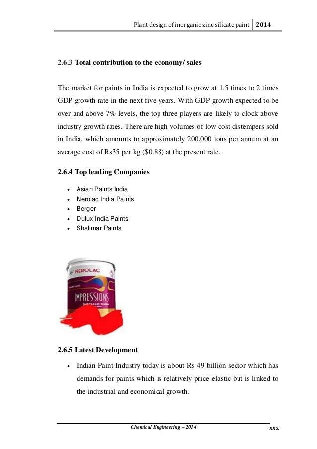 Plant design of inorganic zinc silicate paint (project report part 1)