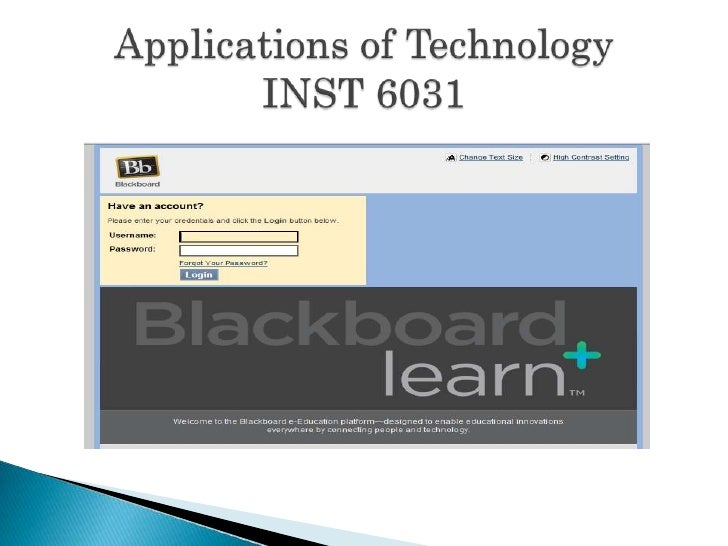Applications of TechnologyINST 6031<br />
