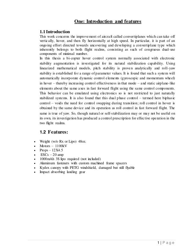 bi copter Major project report ER.Abhishek upadhyay b.tech (ECE)
