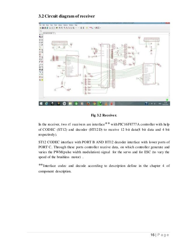 Bi Copter Major Project Report Erabhishek Upadhyay Btech Ece. 16 P A G E 32 Circuit Diagram. Wiring. Leaf Project Drone Wiring Diagram At Scoala.co