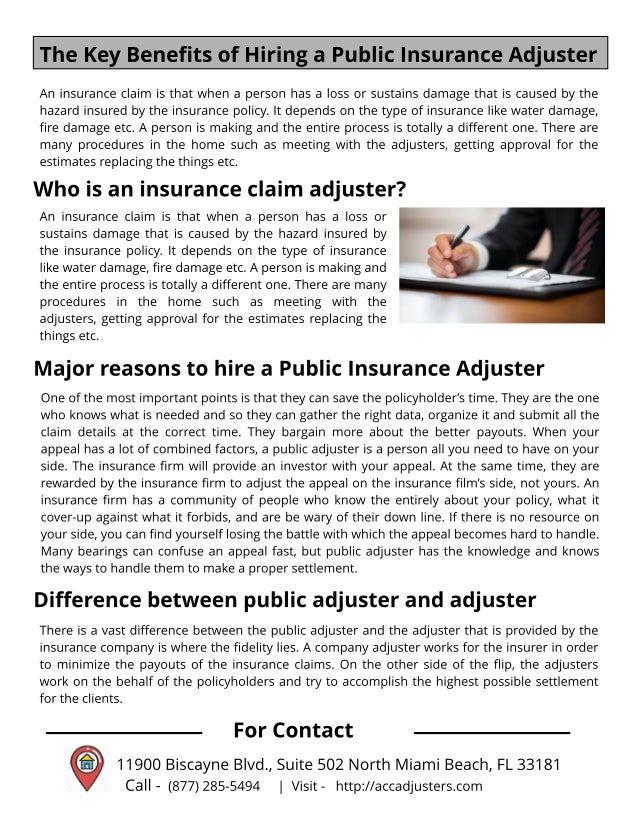 Is It A Good Idea To Hire A Public Adjuster - IdeaWalls