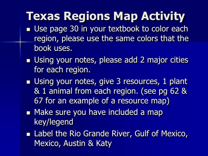 Regions Of Texas Map 4th Grade.Texas Regions