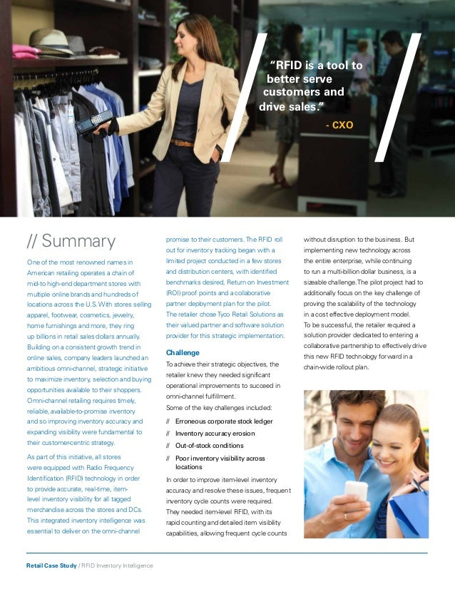 rfid case study retail Case study view document rain rfid brand stores benefit from retail rfid case study you can then view and download as many documents as you wish during.