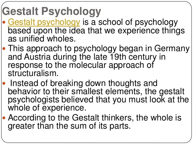 psychological schools of thought The origins of psychology while the psychology of today reflects the discipline's rich and varied history,  major schools of thought in psychology.