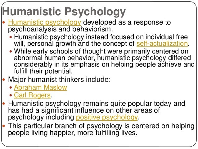 an analysis of humanistic psychology in reaction to behaviorism and psychoanalysis
