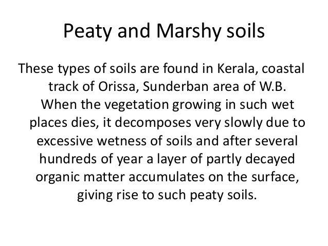peaty soil in india