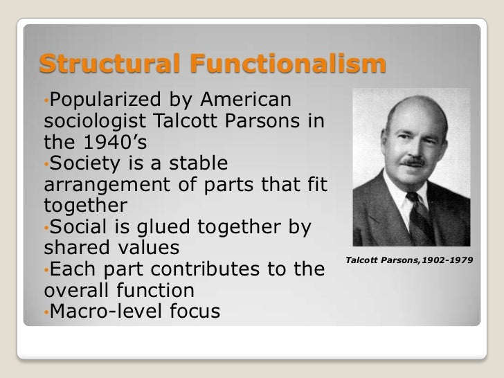 assess the functionalist view that the Evaluate the functionalist theory of the family in this essay, i intend to analyse some of the theories behind the functionalist perspective of the family, it is my intention to look at two main theorists in this field, murdock and parsons.