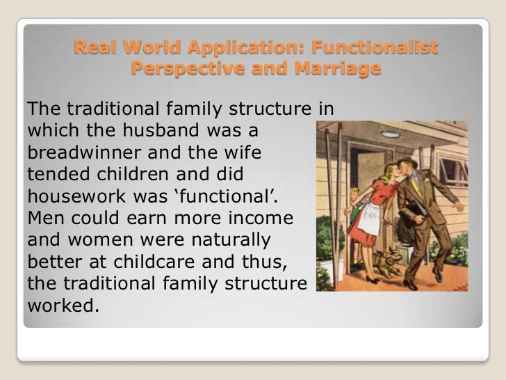 essays on functionalist perspective Evaluate the functionalist theory of the familyin this essay, i intend to analyse some of the theories behind the functionalist perspective of the family, it is my intention to look at two main theorists in this field, murdock and parsons.