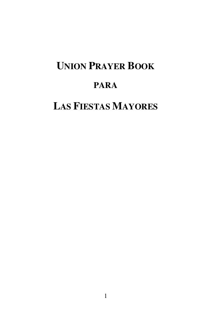 UNION PRAYER BOOK       PARALAS FIESTAS MAYORES         1