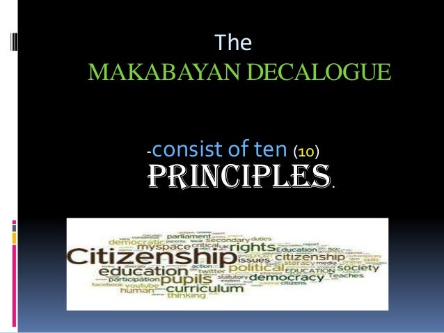 makabayan subject meaning