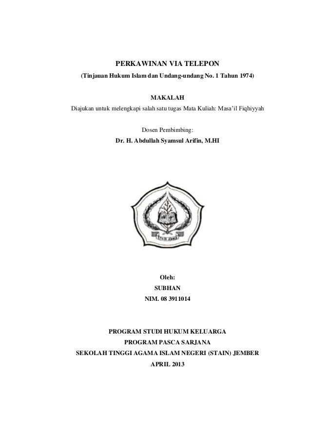Contoh Proposal Skripsi Hukum Keluarga Islam Pejuang Skripsi