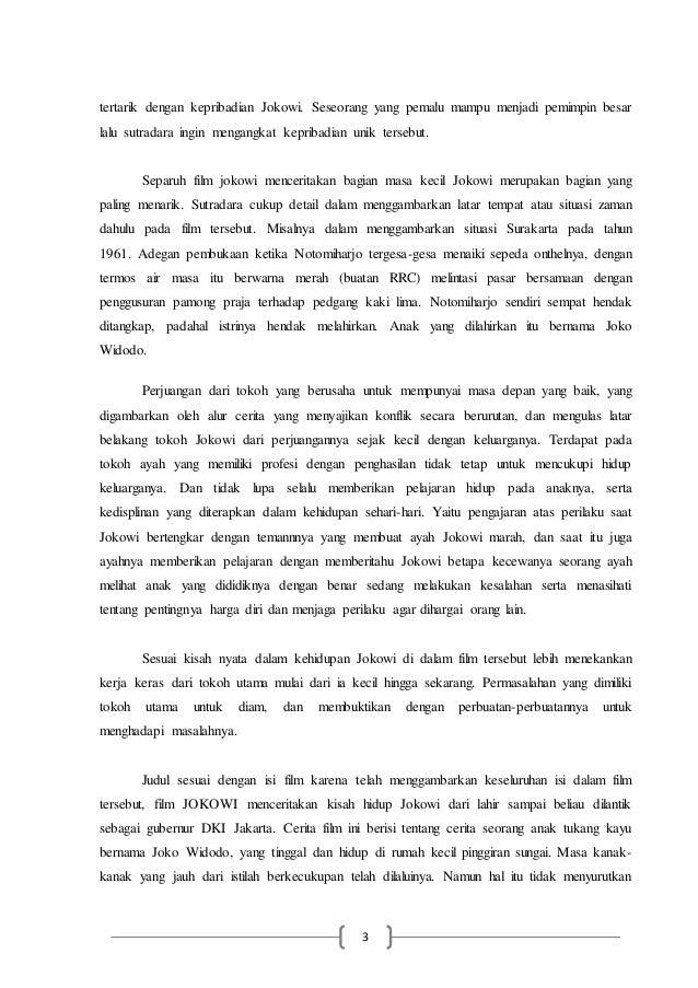 Teks Ulasan Film Jokowi