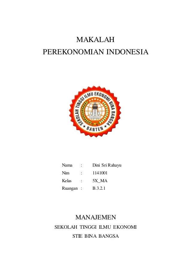 Makalah Ekonomi Indonesia