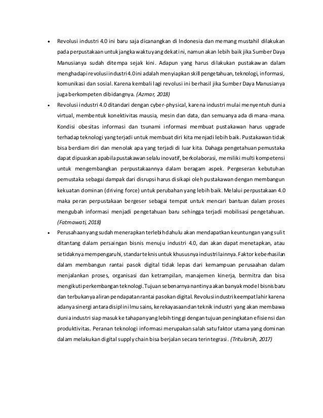 Indonesia Menghadapi Revolusi Industri 4 0