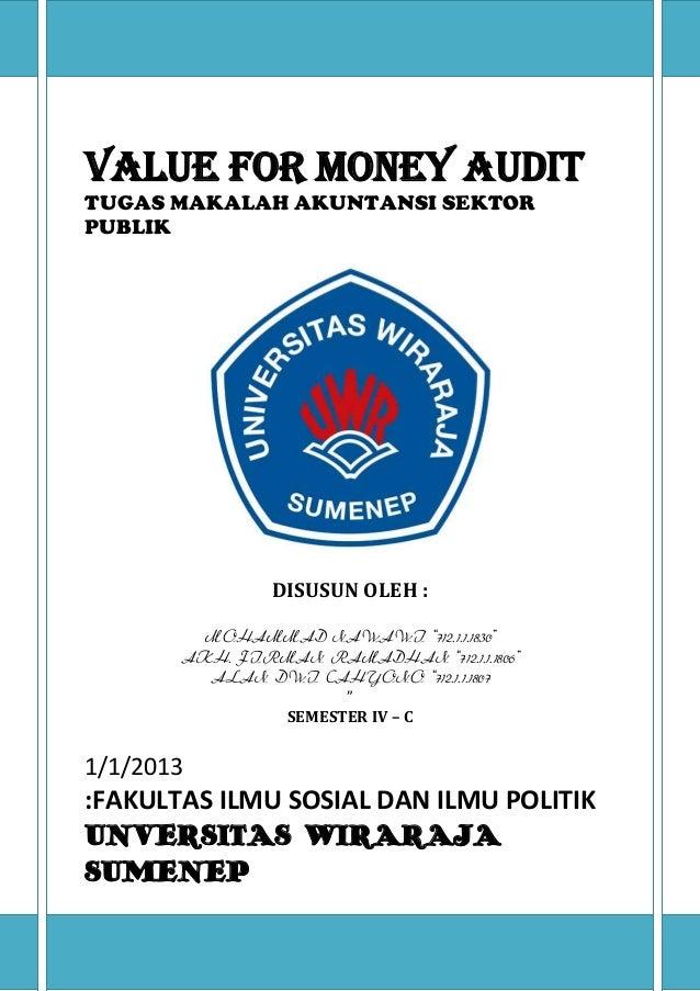 Audit money thesis value