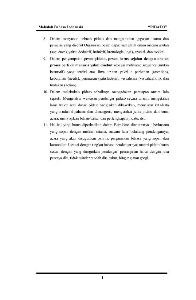makalah pidato 17 638 - Jenis Jenis Pidato Dan Contohnya