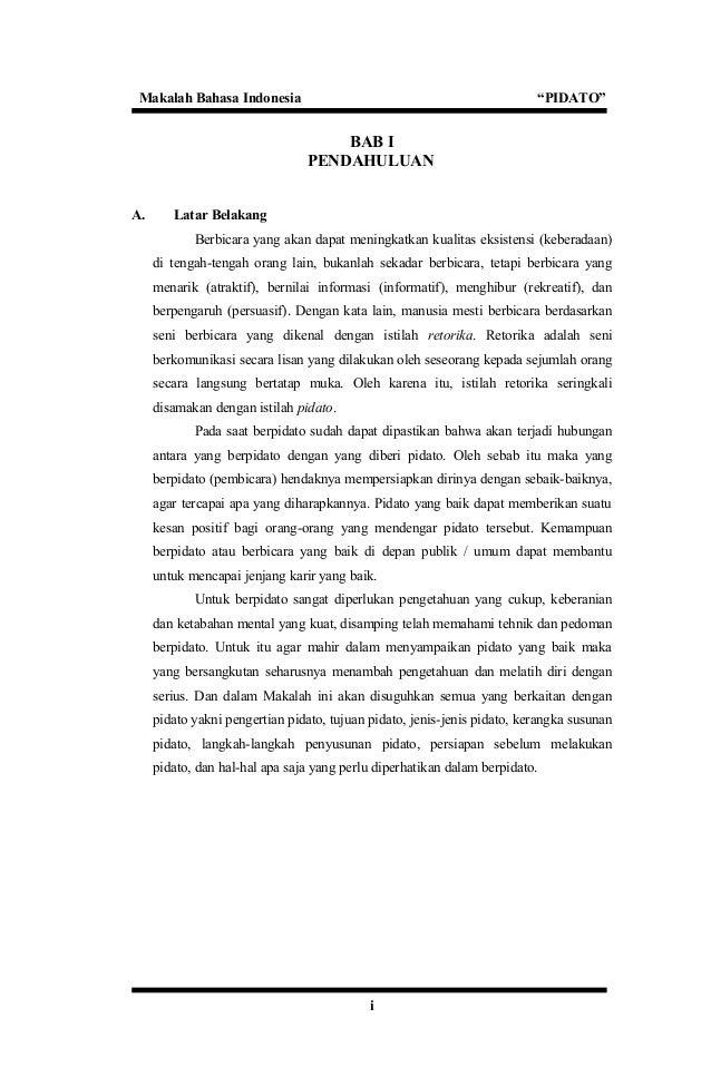 Contoh Pembukaan Pidato Bahasa Indonesia | soal usbn ...