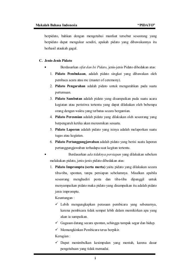 makalah pidato 5 638 - Jenis Jenis Pidato Dan Contohnya