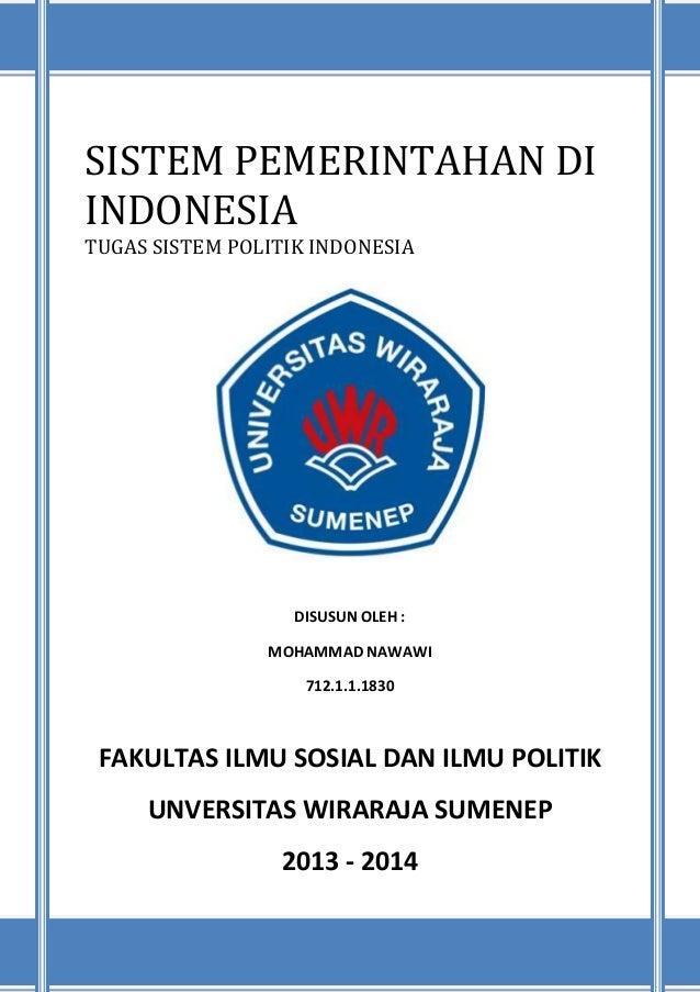Makalah Sistem Pemerintahan Di Indonesia