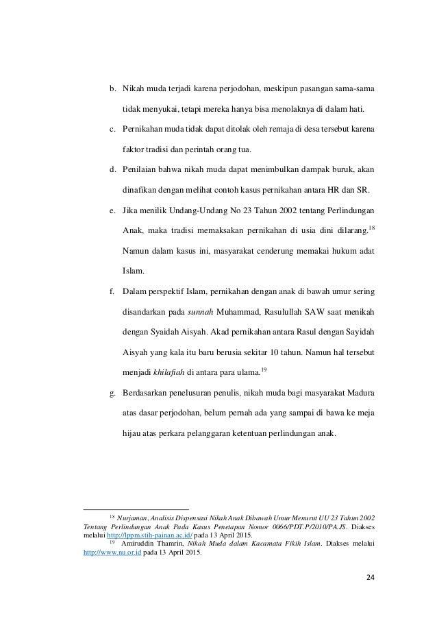 Studi Kasus Hukum Adat Madura