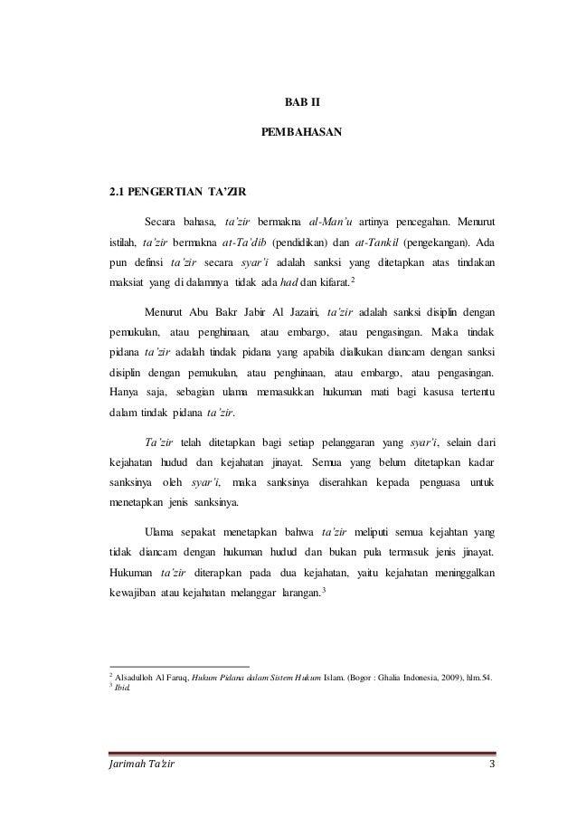 Makalah Penerapan Hukum Pidana Islam Di Indonesia