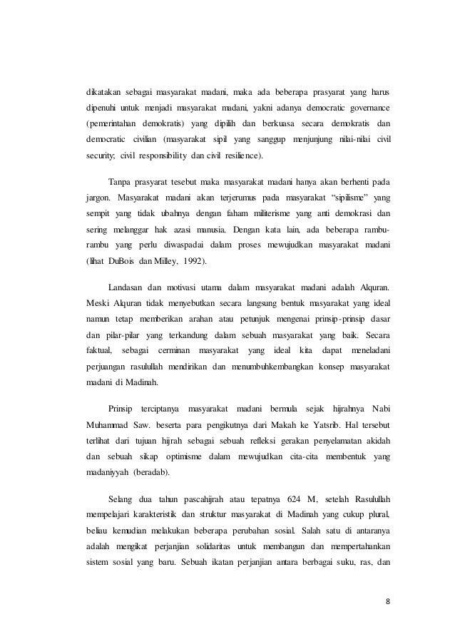 Makalah Masyarakat Madani Dalam Islam Pdf