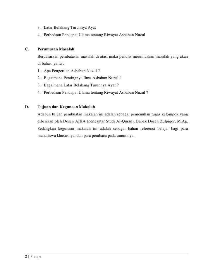 Asbabun Nuzul Surat Al Kautsar