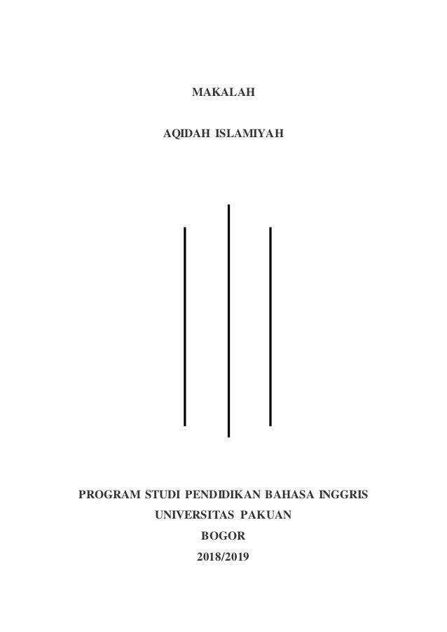 Makalah Akidah Islamiyah