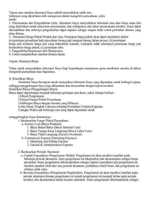 Contoh Makalah Akuntansi Biaya Pada Perusahaan Manufaktur Temukan Contoh