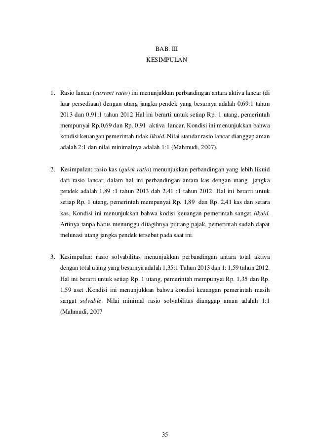 Makalah Analisa Laporan Keuangan Pemerintah Tahun 2009 2014