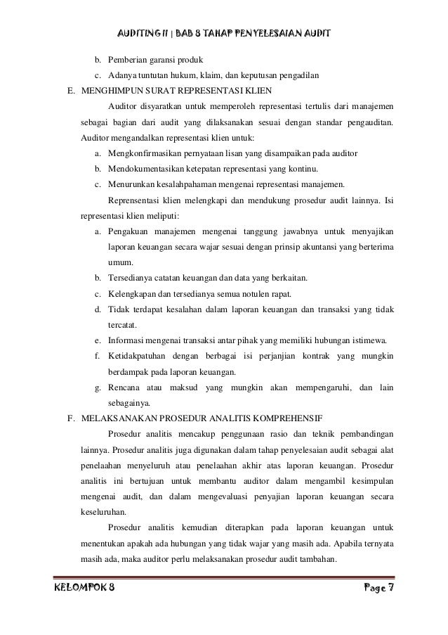 Contoh Laporan Audit Dengan Wajar Tanpa Pengecualian Contoh Aneka