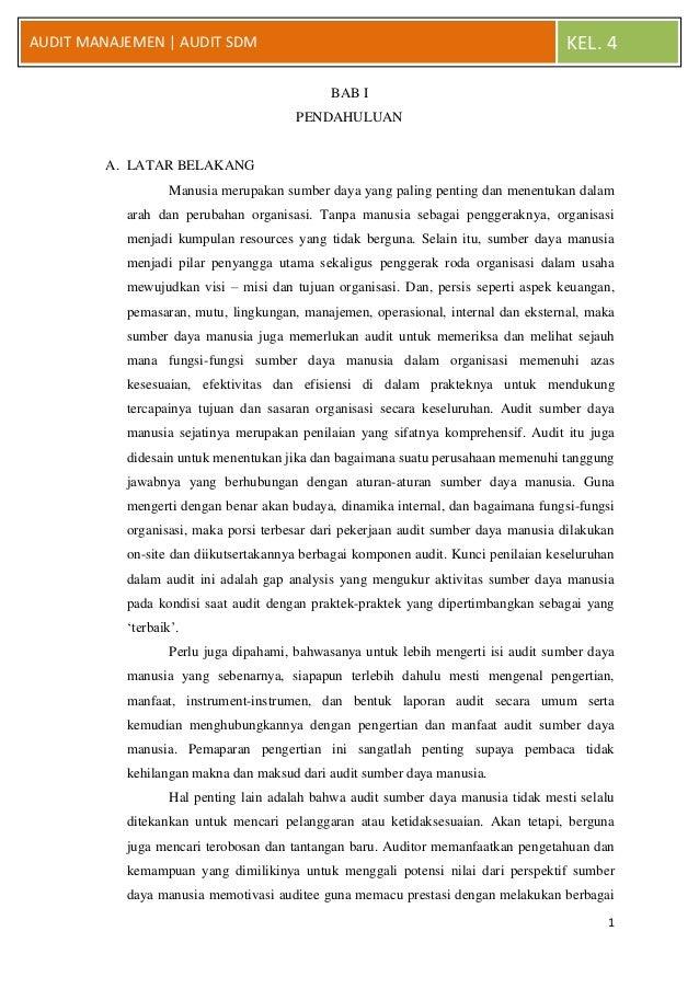 AUDIT MANAJEMEN | AUDIT SDM                                                          KEL. 4                               ...