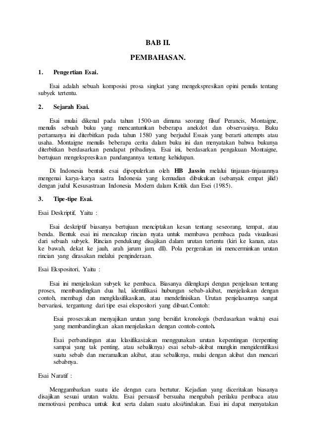 contoh essay indonesiaku