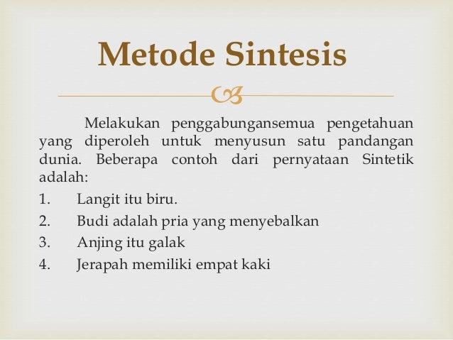 Tesis sintesis antitesis adalah
