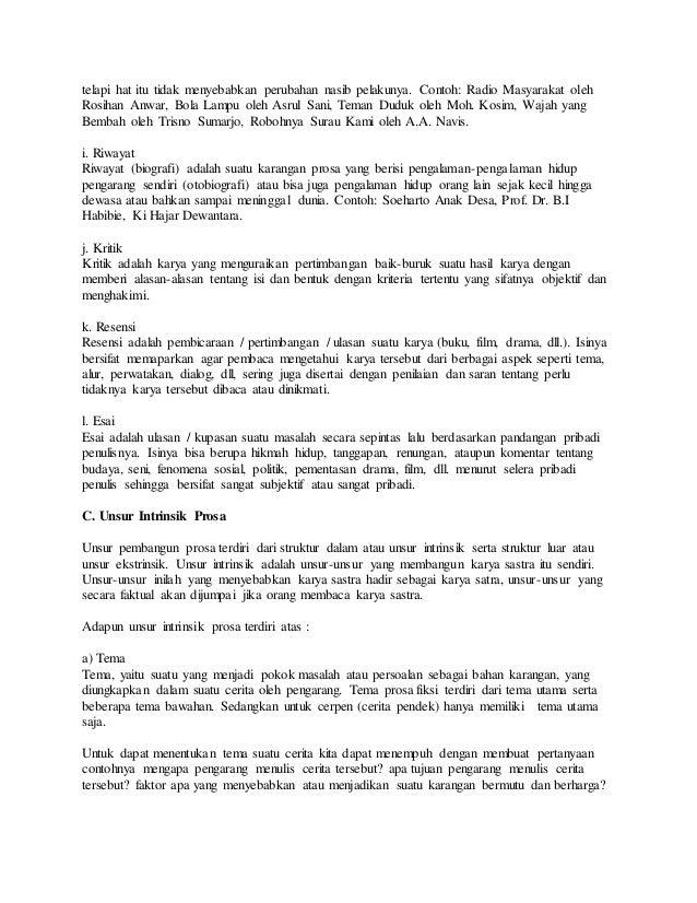 Contoh Makalah Bahasa Indonesia Tentang Cerpen