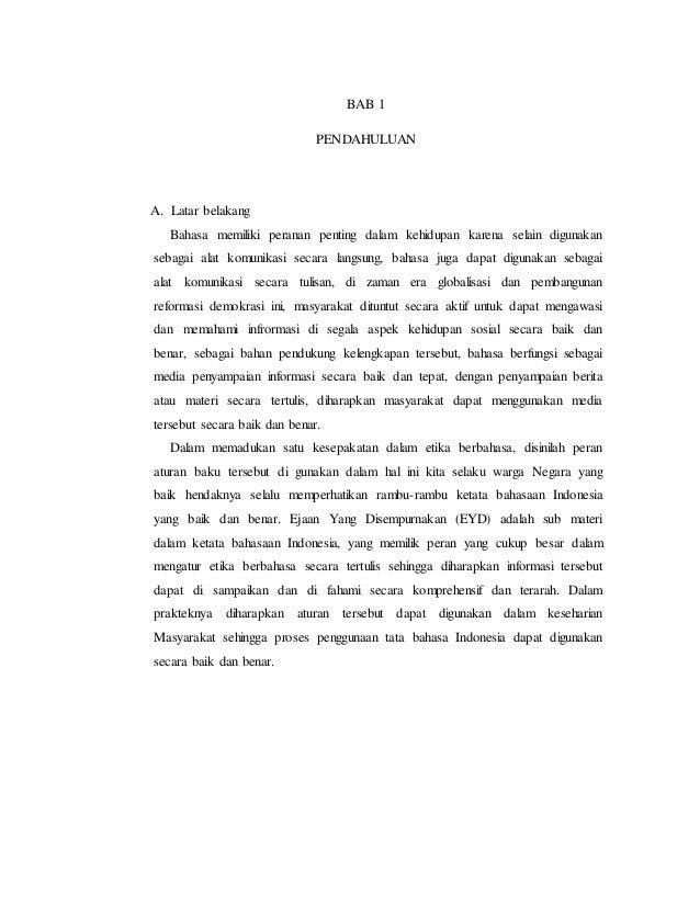 Makalah Bahasa Indonesia Ejaan Bahasa Indonesia