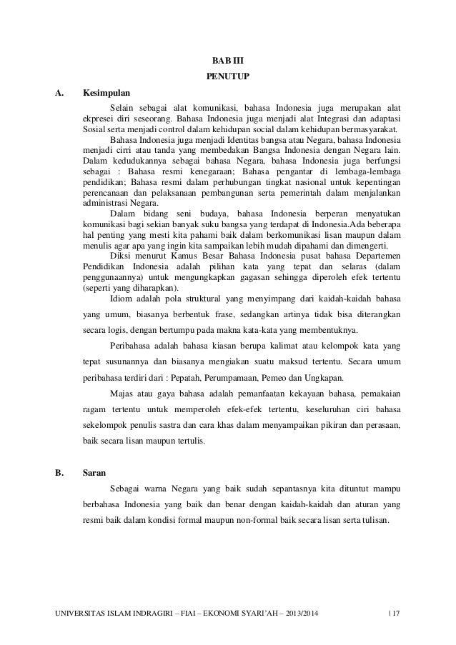 Contoh Makalah Bahasa Indonesia Diksi Disclosing The Mind