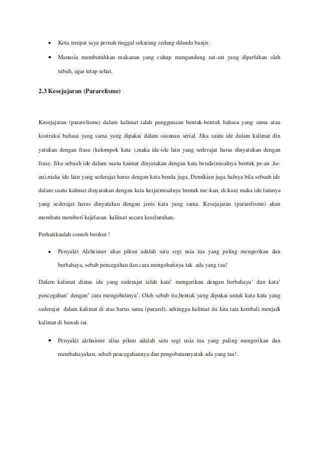 Makalah Bahasa Indonesia Kalimat Efektif