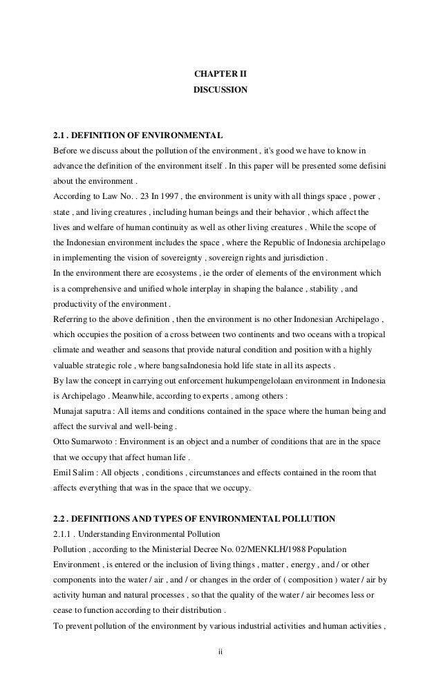 Makalah Bahasa Inggris Pencemaran Lingkungan