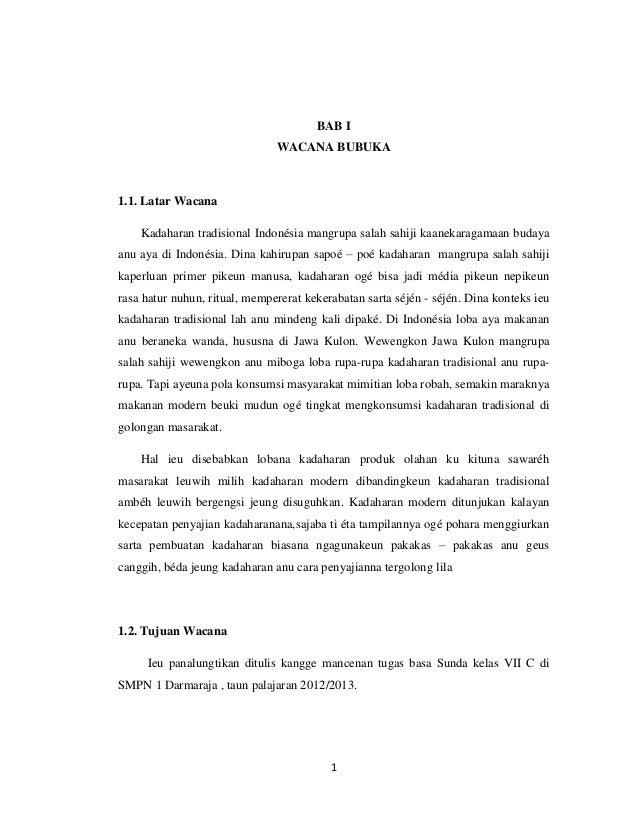 Contoh Sinopsis Novel Bahasa Sunda Kumpulan Contoh Makalah Doc Lengkap