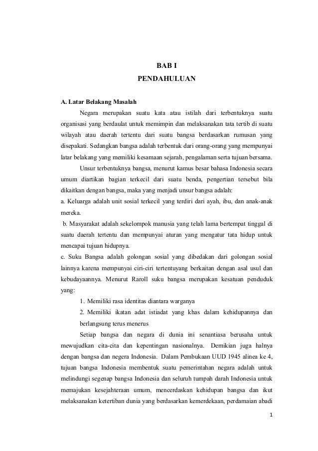 Latar Belakang Bela Negara Dalam Konteks Negara Kesatuan Republik Indonesia