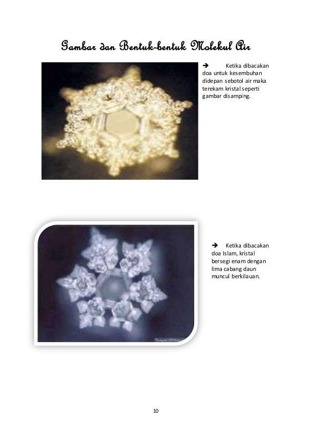Gambar Molekul Air Zam Zam Makalah Keajaiban Molekul Air Zam Zam
