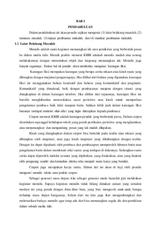 Makalah Cerpen Bahasa Indonesia