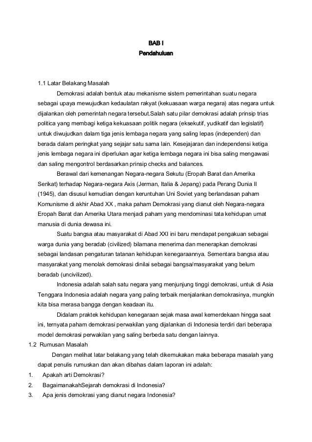 Makalah Demokrasi Di Indonesia